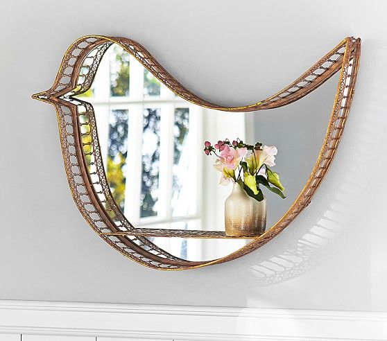 Gold Bird Shelf Mirror | Pottery Barn Kids