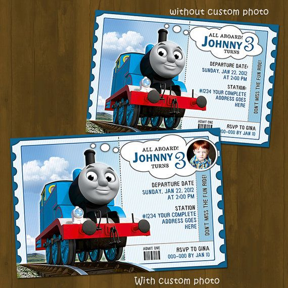 Thomas Train Invitation  Thomas and Friends by SplashboxPrintables, $10.00