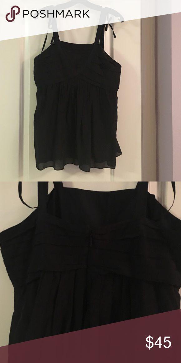 Hugo Boss Black Top Black all cotton top, zipper back EUC BOSS ORANGE Tops