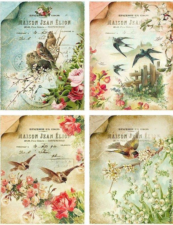 Lots of FREE beautiful vintage printable sheets.                              …