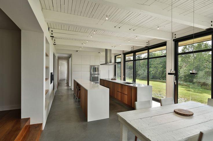 Maison avec baies vitrées et puit de lumière Extensions, Living - puit de lumiere maison