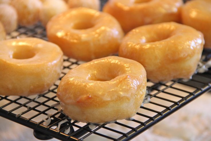 Homemade glazed donuts made out of biscuits... yumm