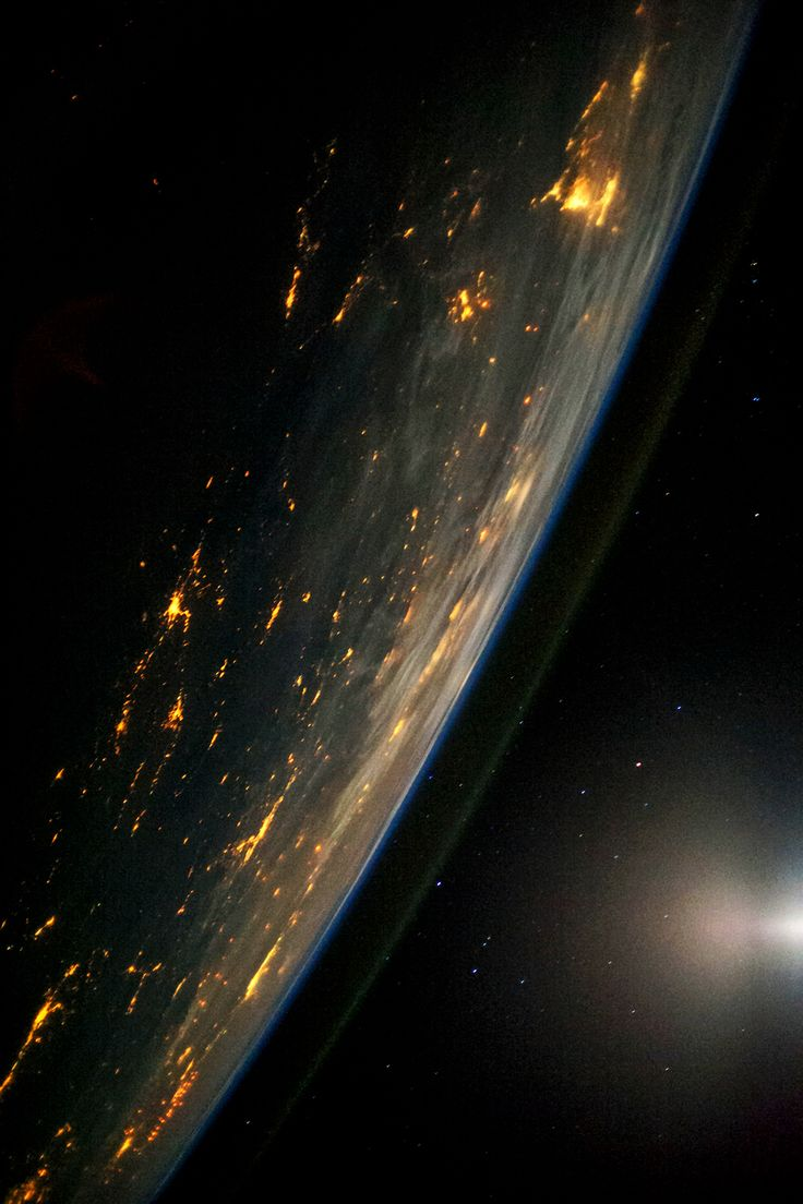 Earth by night.