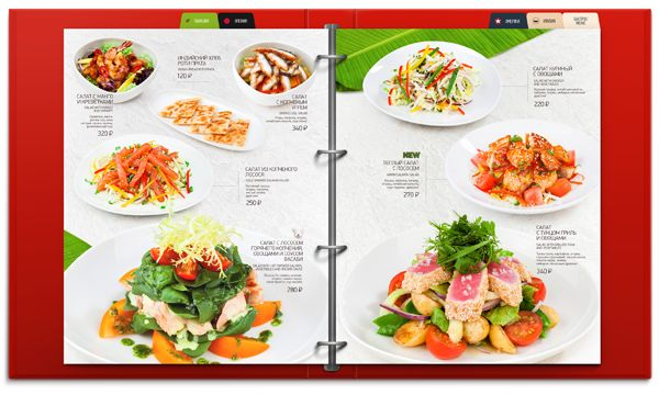 MAIN MENU   «Two Sticks» restaurant on Behance