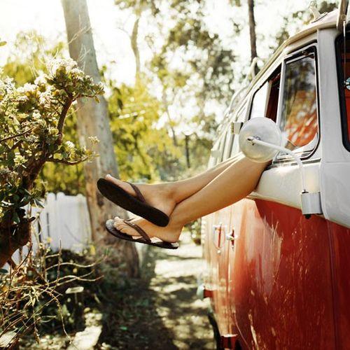 Summer - Girl with flip flops