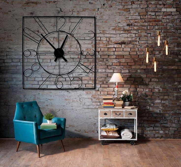 Retro nástenné hodiny do obývačky
