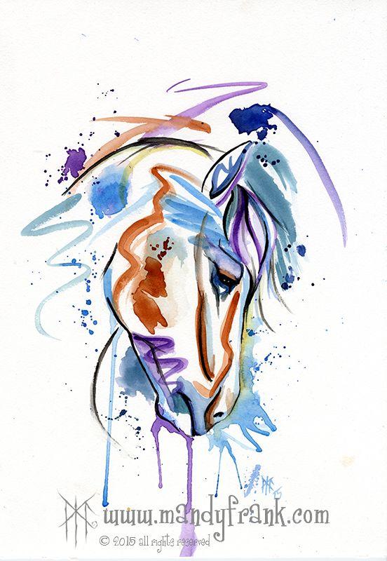 #lindahorse #watercolor #artwork #mandyfrank #hamburg2016