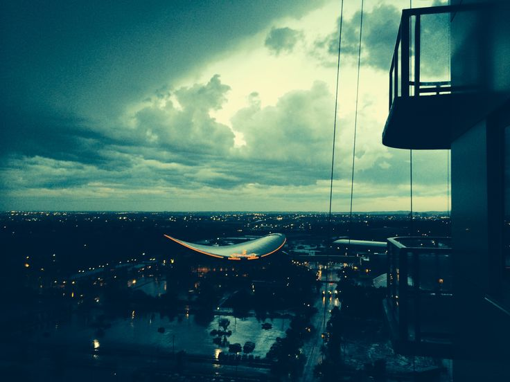 Whoah! Stormy skies over the Saddledome in Calgary!