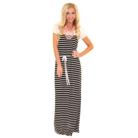 Nautical Runway Maxi | Impressions Online Women's Clothing Boutique