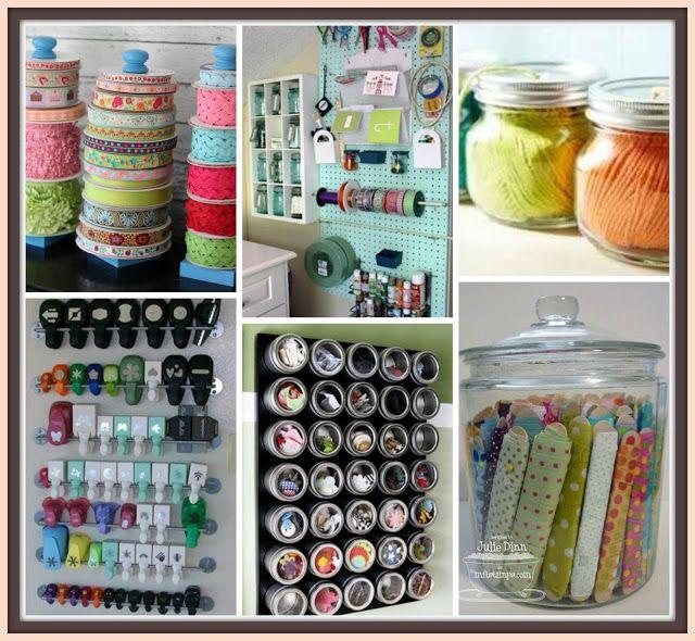 organización taller de manualidades / Craft room organization / organisation atelier loisir créatifs