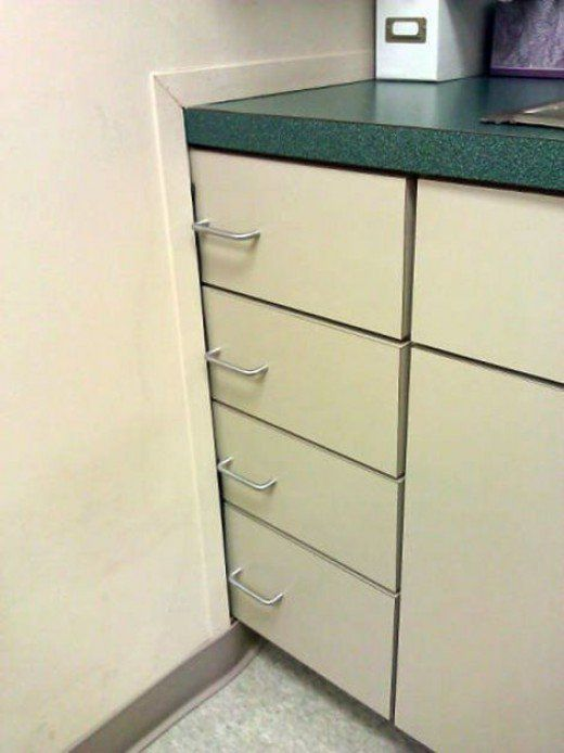 How are you supposed to open these drawers? You had one job and you totally failed it!!