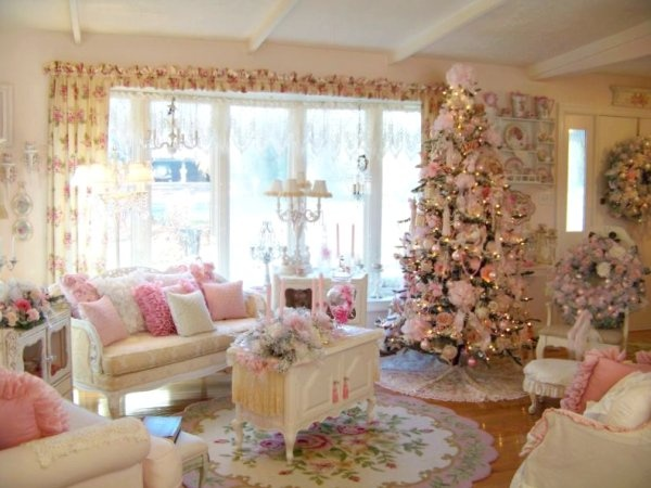 215 best pink christmas images on pinterest christmas. Black Bedroom Furniture Sets. Home Design Ideas