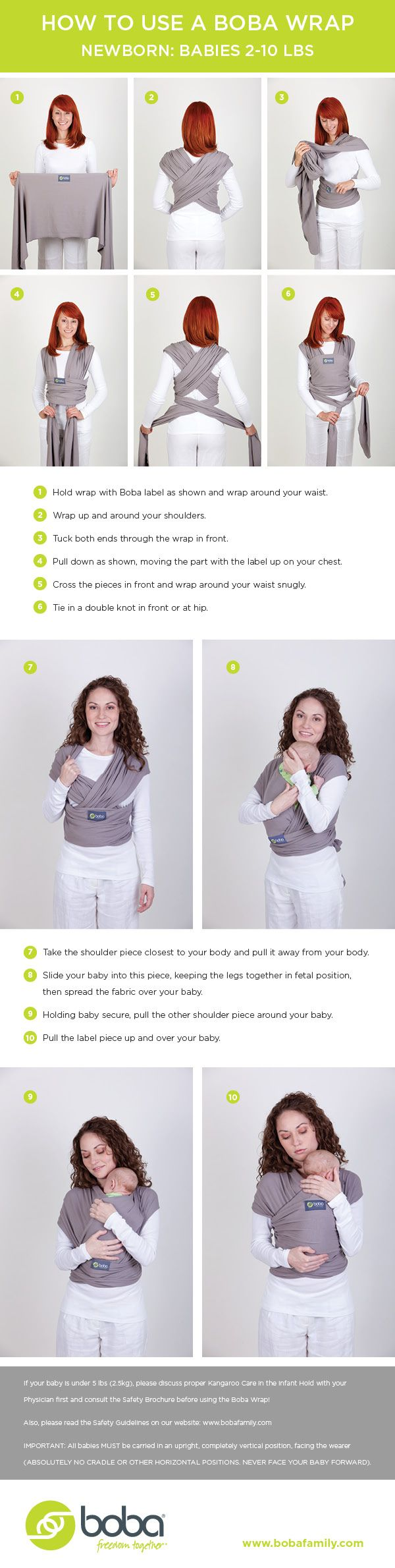 Best place after the womb! How to tie a stretchy baby wrap and carry your newborn. #babywearing
