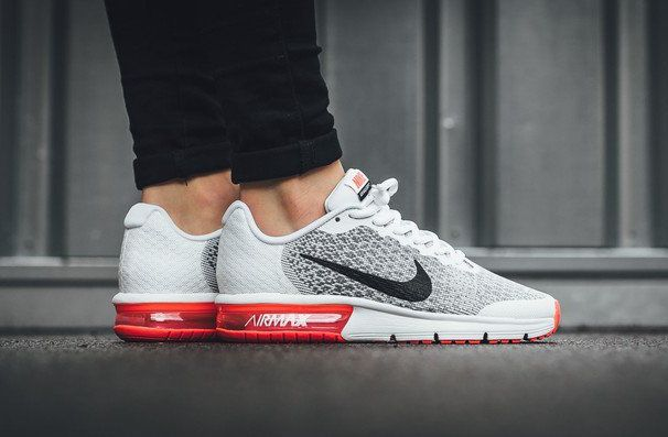 Nike Air Max Sequent 2 Black White Bright Crimson (2) | Nike