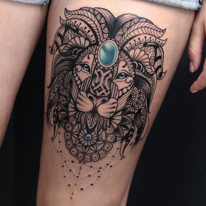 Löwe tattoo sternzeichen frau Löwen Sternzeichen