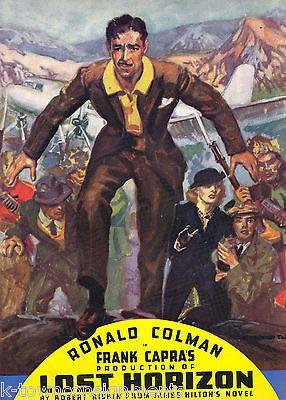 FRANK CAPRA LOST HORIZON MOVIE VINTAGE 1930s COLUMBIA PICTURES SOUVENIR PROGRAM