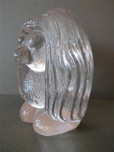 Vintage Bergdala Studios Swedish Art Glass Troll Figurine Paperweight Large | eBay