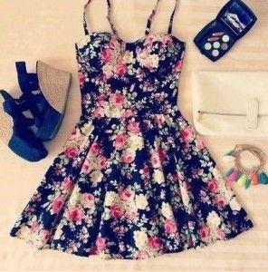 Vestidos ampones floreados 5