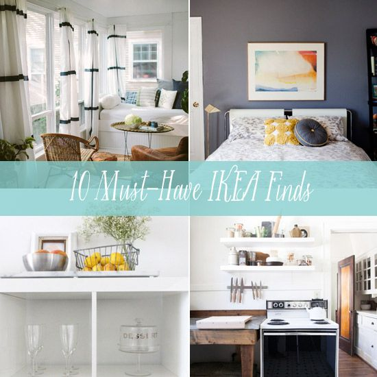 10 Must-Have Finds to Buy at IKEA. I actually really love those curtains and the floating wooden wall shelves.