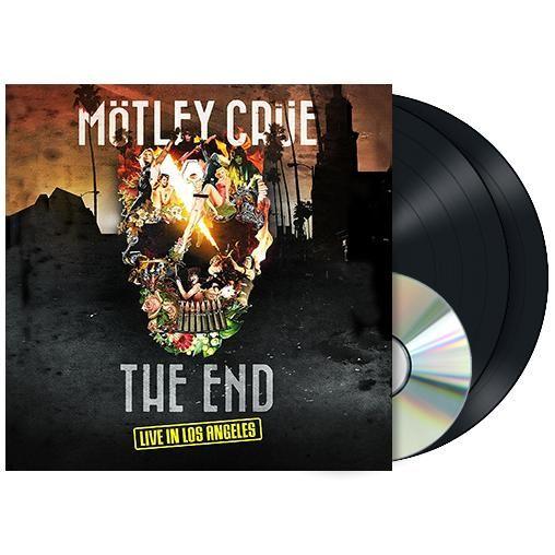 """L'album """"The End - Live in Los Angeles"""" dei #MötleyCrüe su doppio vinile e DVD."""