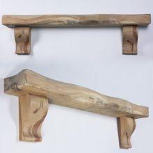 Rustic Curved Corbel Waney Oak Beam Mantel Shelf