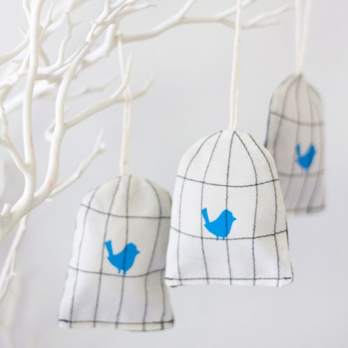 Bird cage lavender sachets but also cute for gifts to hand out the guests when the baby is born