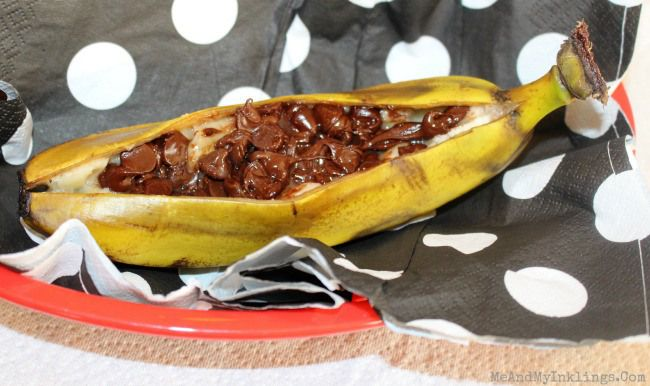 Chocolate Chip Banana Boat Recipe