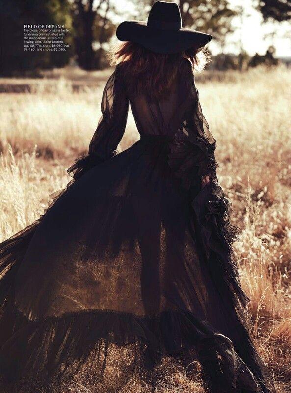 Black Veils in fields