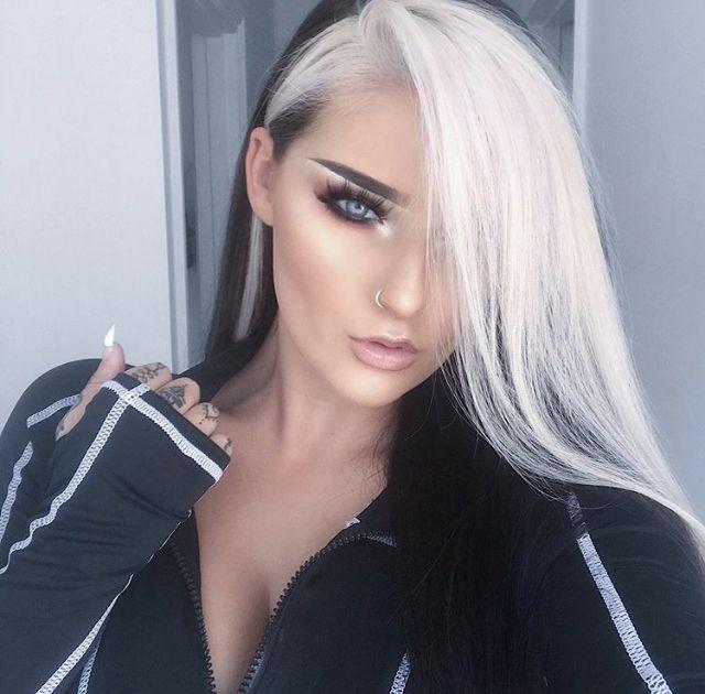(notitle) – Dark Hair with Blonde Bangs 5 – #bangs #Blonde #Dark #hair #notitle   – Dyed