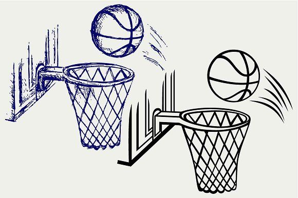 Basketball Board Svg Doodle Images Pencil Illustration Creative Sketches
