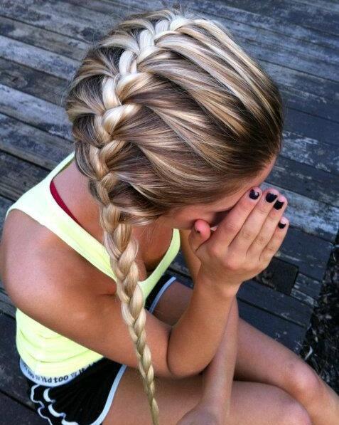 <3!Braids Hairstyles, Summer Hair, Long Hair, Beautiful, Dutch Braids, Hair Style, Side Braids, Hair Color, Side French Braids