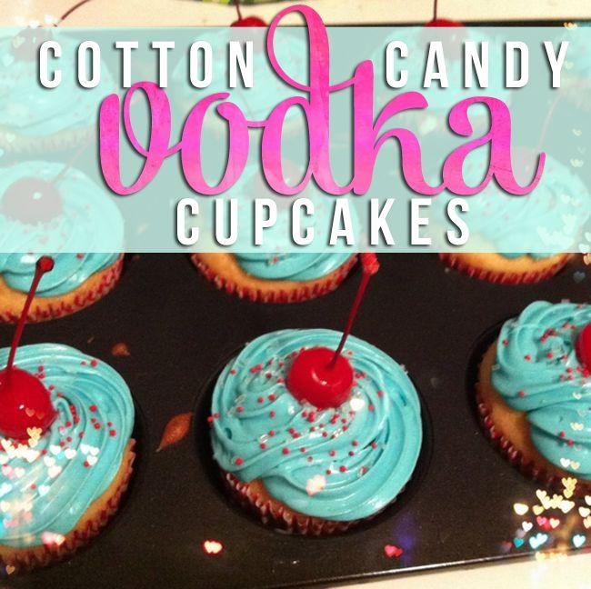 Cotton Candy VODKA cupcake recipe. Yes I said VODKA cupcakes. Holy moly batman.