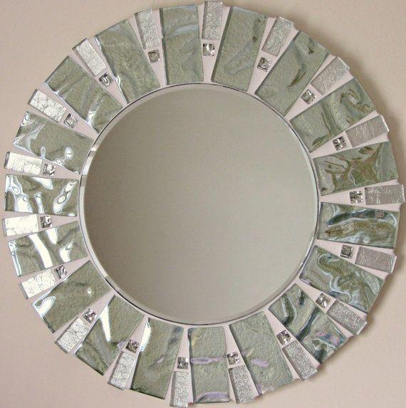 25 melhores ideias sobre azulejos verdes no pinterest for Espejo con borde biselado