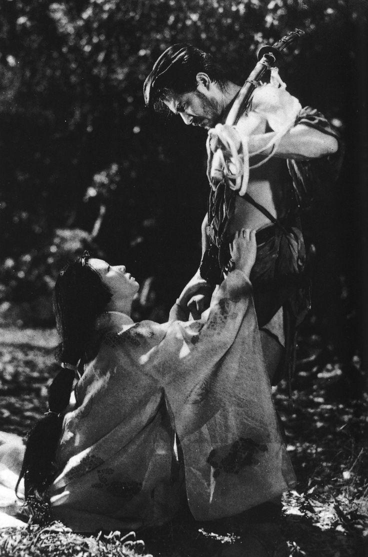 Machiko Kyo and Toshiro Mifune in Rashomon (1950).  (via fromthefloatingworld)