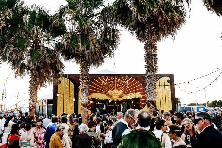 The infamous Spiegeltent on Denham foreshore hosts the 1616 Ball
