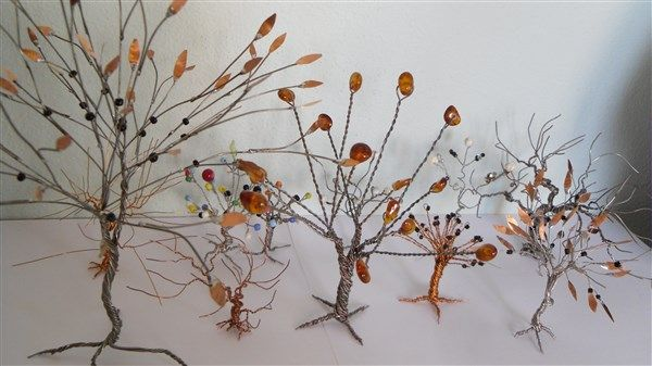 tree with wire and beads