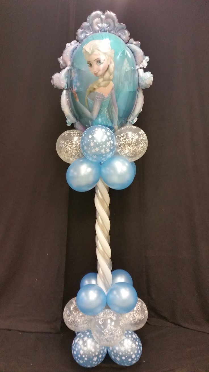 Balloon Colum #Frozen #Elsa