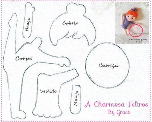 creditos:  acharmosafeltros  Álbum 1--------------página Eu Amo Artesanato  ========================...
