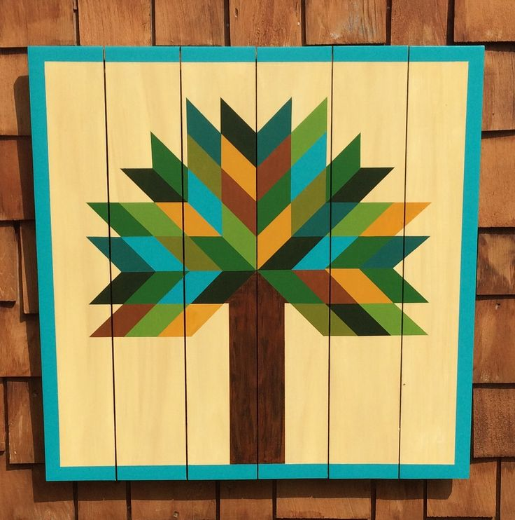Tree Barn Quilt Barn Quilts by Chela