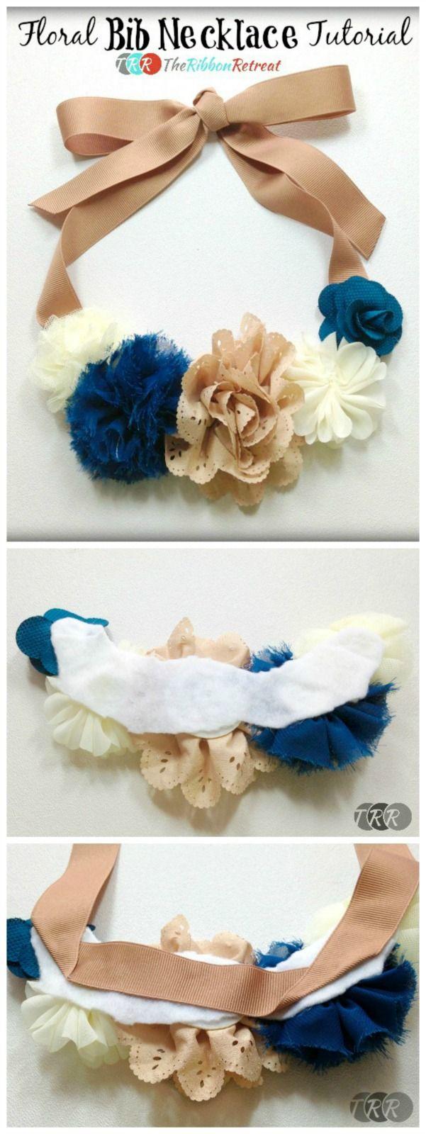 Floral Bib Necklace - The Ribbon Retreat Blog