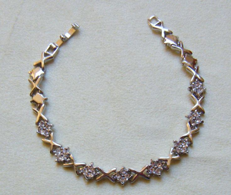 bracciale in metallo e strass, by crys_e_cri, 4,00 € su misshobby.com