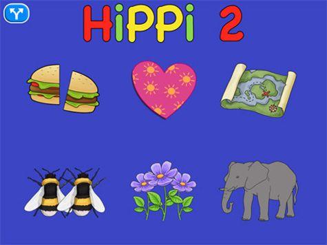Hippi 2 består av sex olika sorters övningar. Appen avser att träna se detaljer, höra ett ord och koppla det till en bild, minnesträning och uppmärksamhet. Bilderna är tydliga och appen vänder sig till såväl personer som står på tidig nivå, såväl yngre som äldre.
