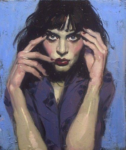 Malcolm Liepke, Sultry Gaze 2014, oil on canvas