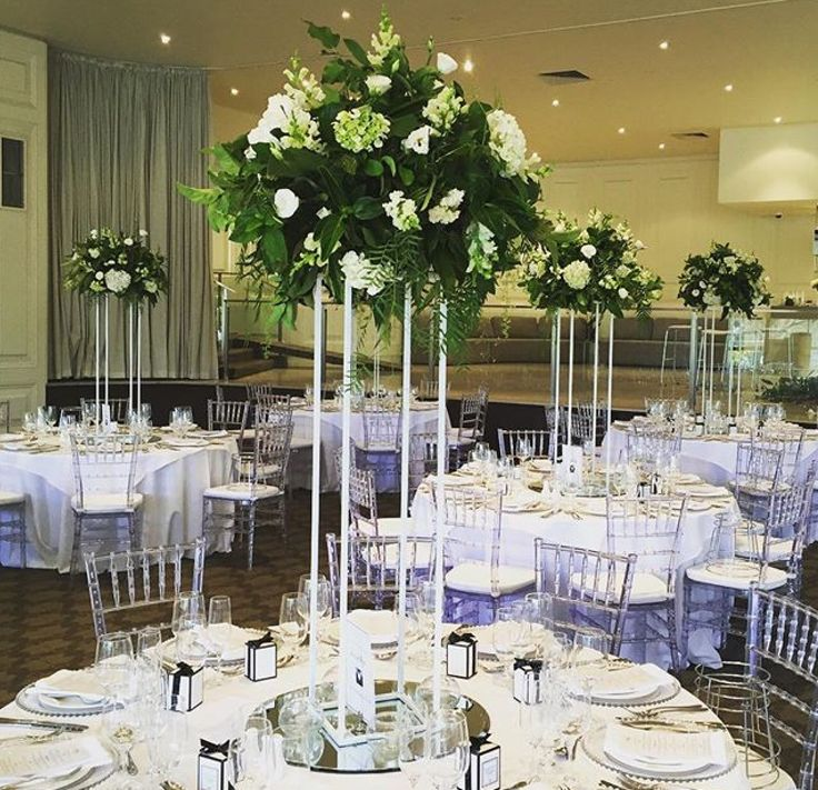 Beautiful botanical arrangements in our Ballroom by Bouquet Melbourne