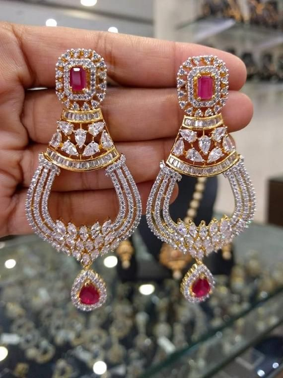 Jewelry & Watches Collection Here Traditional Ethnic Gold Tone Copper Beads Kundan Earrings Party Chand Bali New Evident Effect Fashion Jewelry
