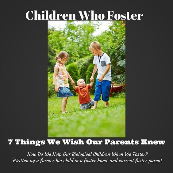 How do you prepare your biological children to foster? This is a great perspective from one who lived it!