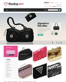 Ce template e-commerce Clicboutic est idéal pour la vente en ligne de sacs-à-main