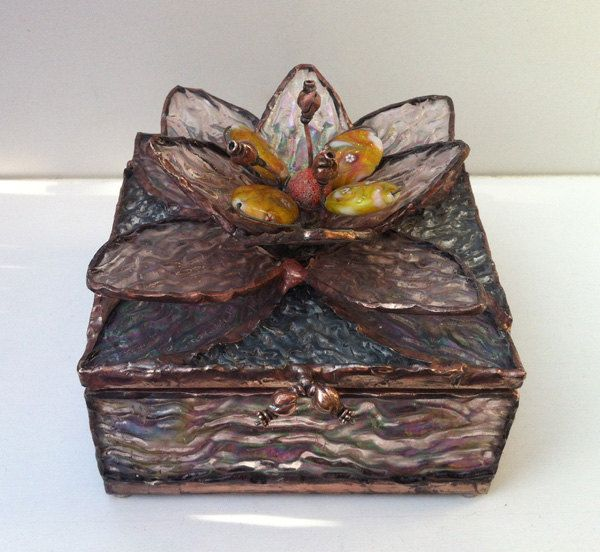 Flower - stained glass jewelry box. $120.00, via Etsy.