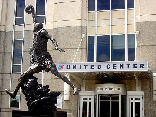 United Center, home of the Chicago Bulls of the NBA and the Chicago Blackhawks of the NHL - Chicago, IL