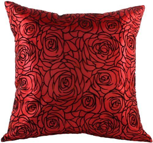 Red Silk Decorative Pillows : Artiwa Red Rose 16